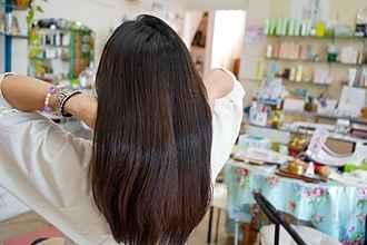 施術後の髪